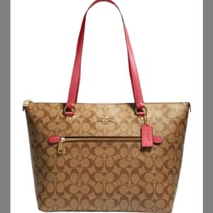 NEW COACH COATED CANVAS GALLERY TOTE BAG